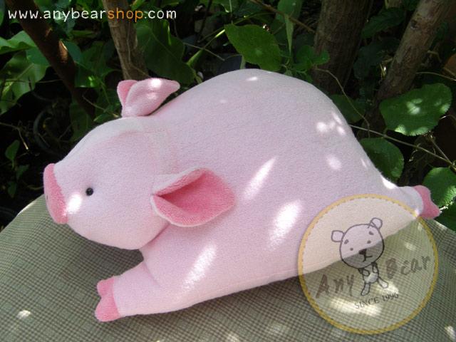 ตุ๊กตาหมูผ้าขนหนูสีชมพู ขนาด 33 cm. - Piggato