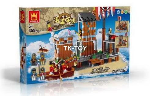 เลโก้จีน ชุด โจรสลัด 358 ชิ้น