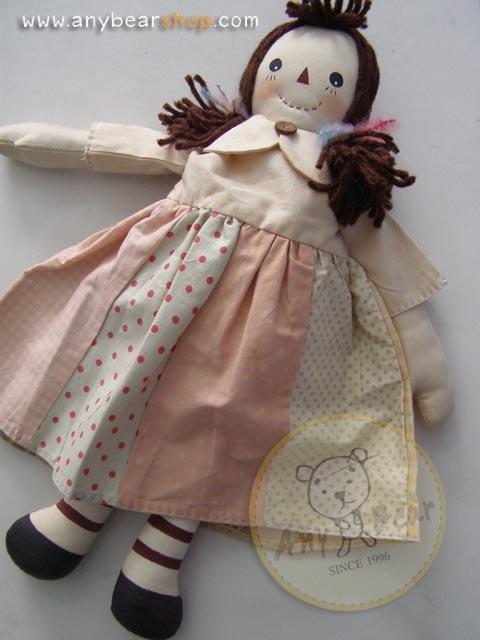 ตุ๊กตาผ้าเด็กผู้หญิงคันทรี่สูง 34 cm. - country doll ( girl )