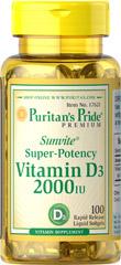 Puritan's Pride - Vitamin D3 2,000 IU 100 Softgels