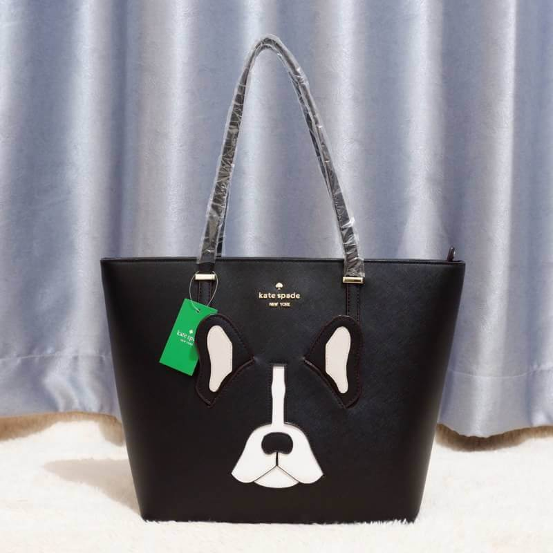 Kate spade shoulder Women's Factory Ma Cherie Antoine French Bulldog tote Bag