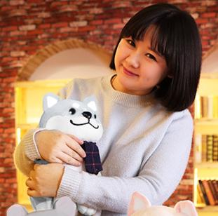 ตุ๊กตาชิบะ ท่านั่งสีเทา 35 cm