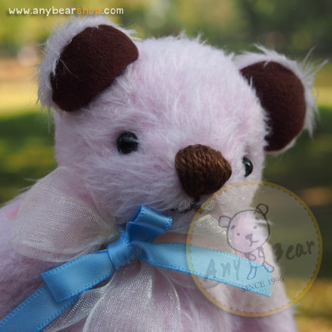 ตุ๊กตาหมีขนสีชมพูขนาด 16 ซม. - DoBear
