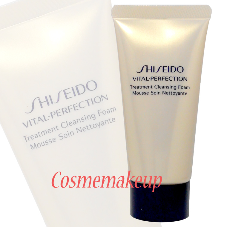 Shiseido Vital-Perfection Treatment cleansing foam ขนาดทดลอง 50 ml.