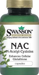 Swanson Premium NAC N-Acetyl Cysteine 600 mg 100 Capsules