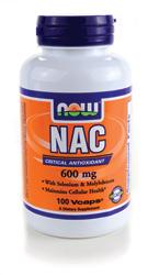 Now Foods - NAC N-Acetyl Cysteine 600 mg 100 Capsules