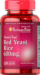 Puritan's Pride - Red Yeast Rice 600 mg 120 Capsules
