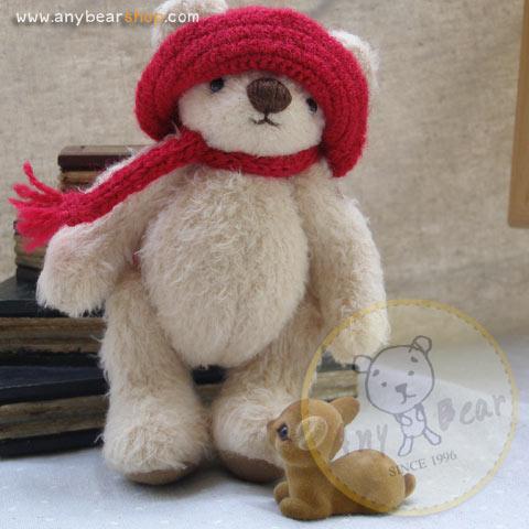 ตุ๊กตาหมีขนสี่ครีมขนาด 15.5 ซม.- DoBear
