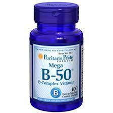 Puritan's Pride Mega Vitamin B-50® Complex 100 Capsules