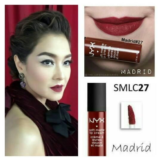 NYX Soft Matte Lip Cream # SMLC27 MADRID ลิปแมตต์เนื้อครีมที่ได้รับความนิยมสูงสุด! เนื้อลิปนุ่มละมุนและให้ความชุ่มชื่นสู่ริมฝีปากมากกว่าลิปแมตต์อื่นๆ