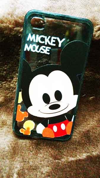 case iphone 5/5s ขอบยางหลังใส Mikey Baby