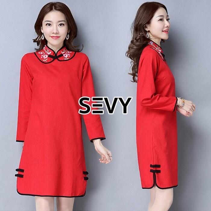 ชุด Dress สีแดงแรงฤทธิ์สำหรับตรุษจีนปีนี้