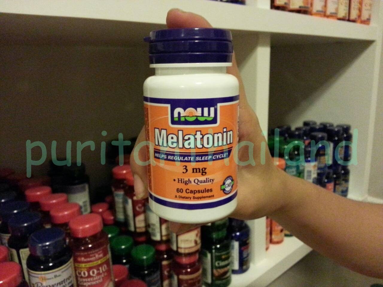 Now Foods Melatonin 3 mg. 60 capsules