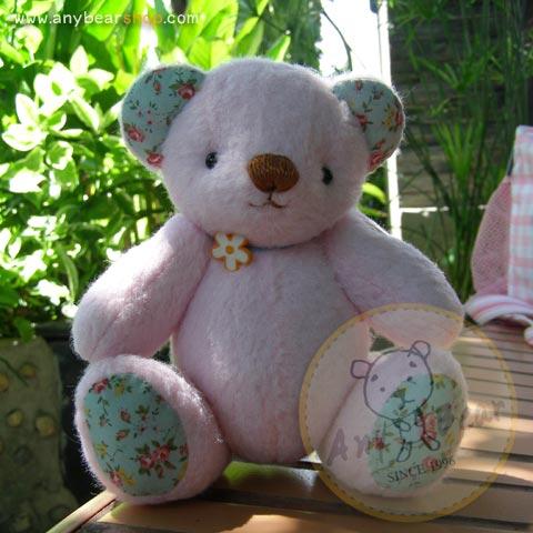 ตุ๊กตาหมีผ้าขนสีชมพูขนาด 18 cm. - Roll