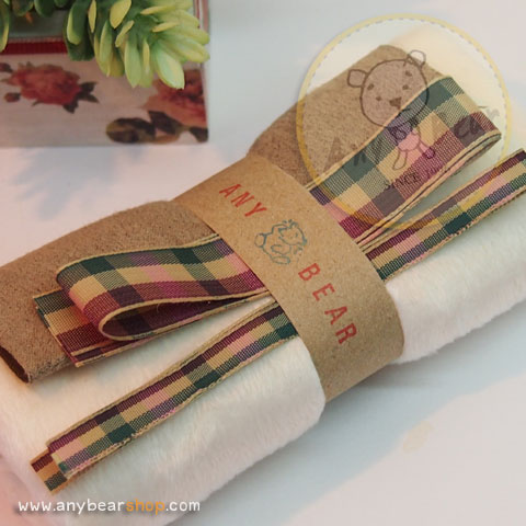 เซตผ้าขนKTสำหรับเย็บตุ๊กตาหมี - โทนสีงาช้าง
