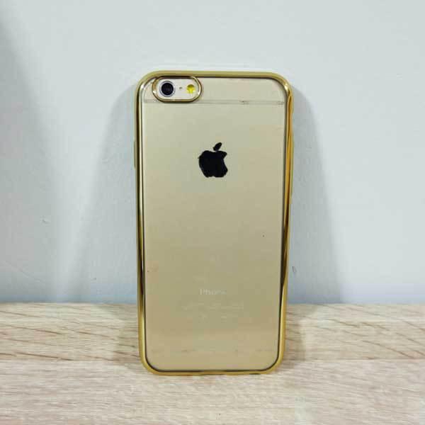 เคสไอโฟน 6พลัส /6s พลัส ยางขอบทอง