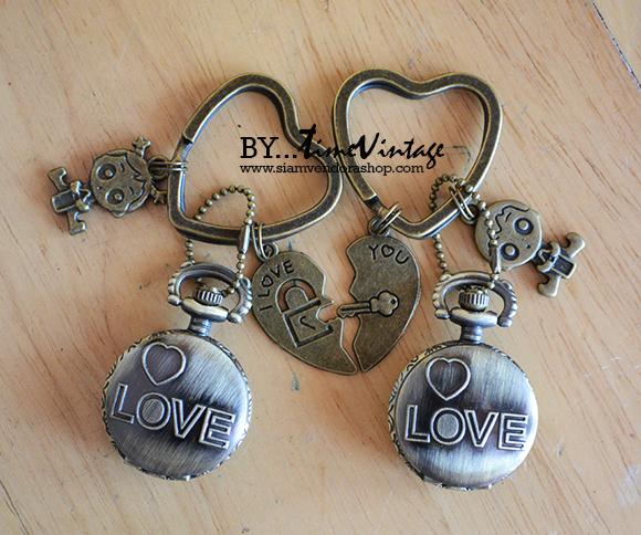 นาฬิกาพวงกุญแจเซทคู่รัก
