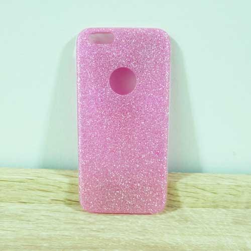 เคสไอโฟน 6 พลัส/6s พลัส ยางฟรุ้งฟริ้ง สีชมพู