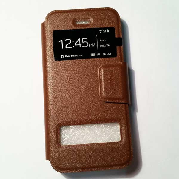 เคสไอโฟน 6/6S แบบฝาพับ สีน้ำตาล