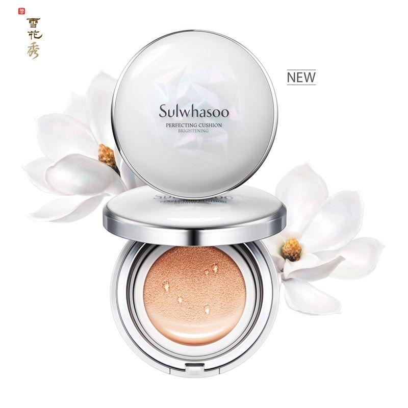 (ส่งฟรี)เคาเตอร์ไทย ลด 25% SULWHASOO Perfecting Cushion Brightening SPF50+/PA+++ no.23 medium beige(ตลับจริง+รีฟิว15กรัม)รองพื้นรูปแบบใหม่ ที่ผสาน 3 ประสิทธิภาพไว้ใน 1 เดียว whitening, wrinkle correction , uv protection functional cosmetics