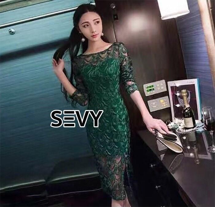 Dress เรียบหรูโทนสีเขียว