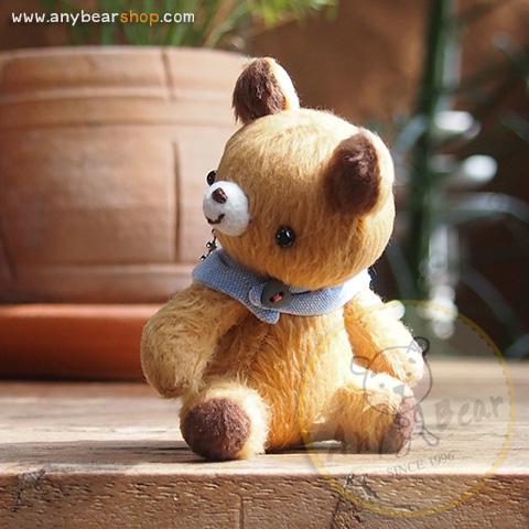 ตุ๊กตาหมีขนสั้นสีน้ำตาลขนาด 8 cm. - Teeny-Weeny
