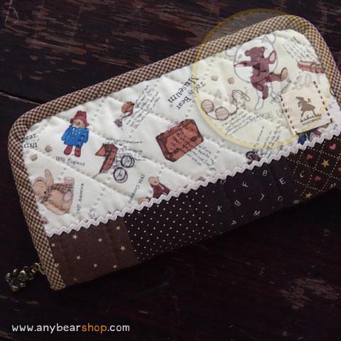 กระเป๋าสตางค์ใบยาวงานควิลท์-Teddy Bear museum