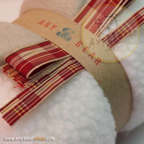เซตผ้าขนแกะสำหรับเย็บตุ๊กตาหมี - โทนสีขาว