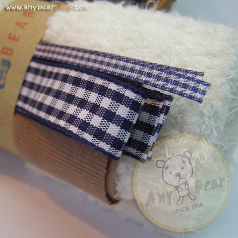 เซตผ้าขนนิ่มสำหรับเย็บตุ๊กตาหมี - โทนสีขาว