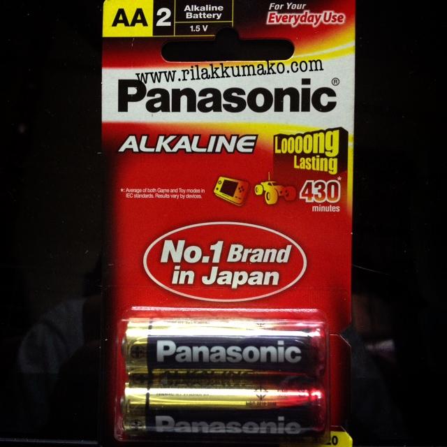 ถ่านอัลคาไลน์ Panasonic Alkaline Long Lasting AA (1แพ็ค มี2ก้อน)
