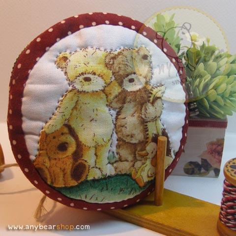 กระเป๋าผ้าใส่เหรียญลายหมี