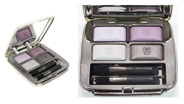 ลดเคลียร์สต๊อก *GUERLAIN Omber Eclat 4 Shades Eyeshadow # Violette Du Soir 461อายแชร์โดว์เนื้อฝุ่นโปร่งกระจายแสงดี สีสวยและโดดเด่นทุกมุมมอง เนื้อละเอียดไม่เลือนง่าย