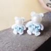 ต่างหูแฟชั่น หมีเล็กใหญ่สีฟ้า