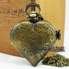นาฬิกาพก วินเทจแบบสร้อยคอ ลายหัวใจฝาทึบลาย Forever Love