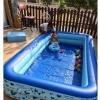 หมดชั่วคราว Big Size ใหญ่ที่สุดของ UNME Baby Swimming Pool เป่าได้ 2 ชั้น มีช่องเป่าลมแยกแต่ละชั้น PVC เกรด A อย่างหนา ขนาด 2.95x1.68x0.46 เมตร (อย่าลืมซื้อปั้มไฟฟ้า แนะนำรุ่น 450 บาทขึ้นไป)