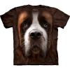 The Mountain Big Face Saint Bernard Dog T-Shirts