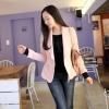 Chu ViVi เสื้อคลุมคอปกแขนยาวสีชมพู ติดกระดุมหน้า ดีไซต์ปกเก๋ ๆ ตามแบบ