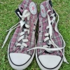 รองเท้า Converse สีชมพู ลายสก๊อต Size 38
