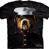 Mountain Big Face Bulldog Marine T-Shirts