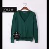"""Free size- เสื้อคลุมZara สีเขียวขี้ม้า ผ้านิ่มมากกก อันนี้ นำเสนอ จ้า สวยใส่สบาย อก 36"""" ยาว 24"""" (เสื้อคลุมพร้อมส่ง)"""