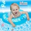 Size M สุดฮิต สีฟ้า- ห่วงยางพยุงหลัง Safty Baby Swim Trainer Float ล็อค 2 ชั้นโอบรอบตัว ปลอดภัย (6 เดือน -2 ขวบ ( -วิธีใช้ดูในคลิปวีดีโอค่ะ) (สายพาดบ่าไม่จำเป็นต้องเป่านะคะ ตัวปีกสีขาวโตแล้วไม่ต้องเป่า)