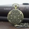 นาฬิกาล็อคเก็ตวินเทจสีทองเหลืองลายเถาวัลย์กอริค