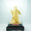 เทพเจ้ากวน ยืนอูถือดาบทอง พ่นทองทราย99.99%สูง 11 นิ้ว