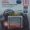 Sandisk CF Ultra 8GB 50MB/s (333X)(SIS/Synnex)