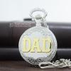 ของขวัญให้พ่อ นาฬิกาพกสีเงินลาย DAD พรีเมียมระบบถ่านควอทซ์ญี่ปุ่น