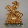 ม้าทองบนถุงทองฐานแก้วสูง9นิ้ว กว้าง7.5นิ้ว ลึก4.3นิ้ว