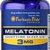 Puritan's Pride - Melatonin 3 mg 120 Tablets