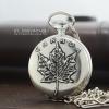 นาฬิกาพกของที่ระลึก Souvenir ดีไซต์ Collectible Canada ตัวเรือนสีเทาระบบถ่านควอทซ์ญี่ปุ่น