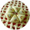 HBTRI21 : กระดุมปั๊มแฮนด์เมดทรงสามเหลี่ยมด้านเท่าราคาต่อ 1/2 โหลค่ะ