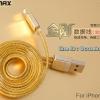 สายชาร์จ iPhone 5/5s/5C Remax Gold Safe & Speed สีทอง